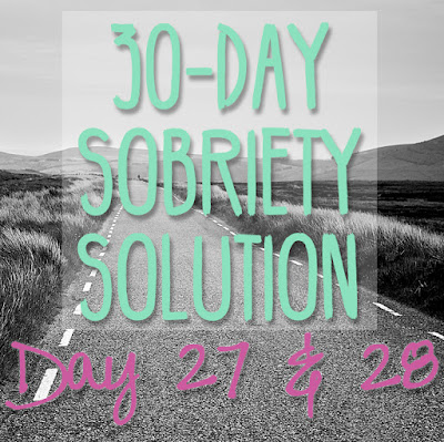 30 Day Sobriety Solution: Day 27 & 28