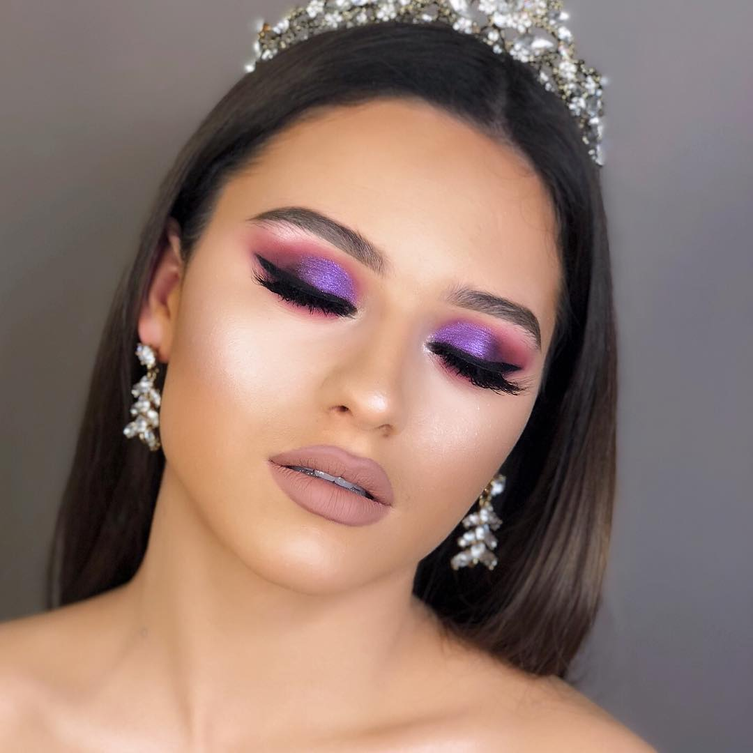 Maquiagem lilás para noivas