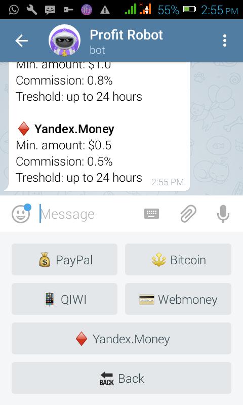 Bitcoin robot cash telegram - Download bitcoin blockchain faster