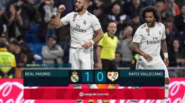 Hasil Pertandingan Real Madrid vs Rayo Vallecano