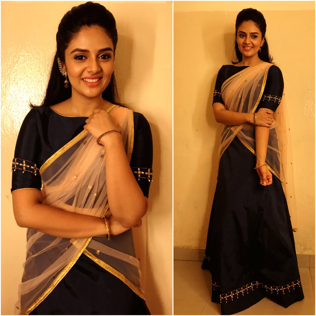 Actress Sreemukhi Latest Images In Saree