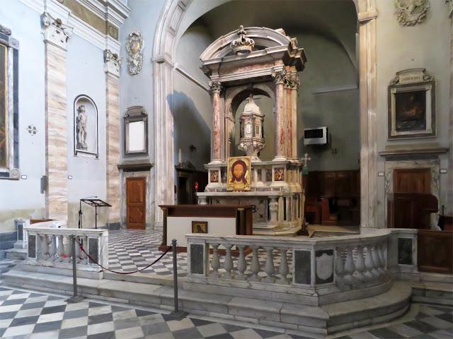 The main altar of the church of Saint John the Baptist, Via San Giovanni, Livorno
