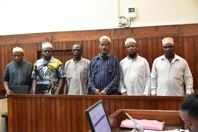 MRC leaders in Mombasa Court. PHOTO | BMS
