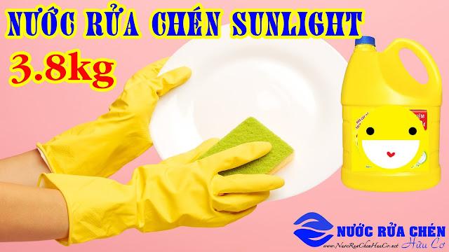 Só sánh nước rửa chén sunlight 3.8 kg và nước rửa chén Dish Drops 1 lít