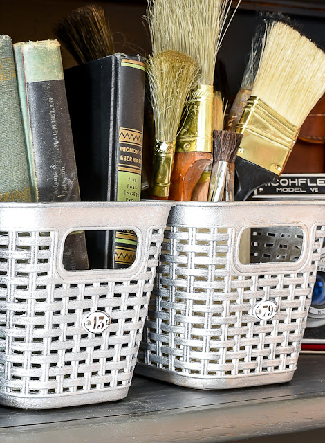 DIY Dollar Tree vintage locker baskets
