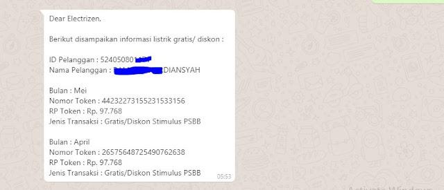 Cara Klaim Token Listrik Gratis Via WhatsApp