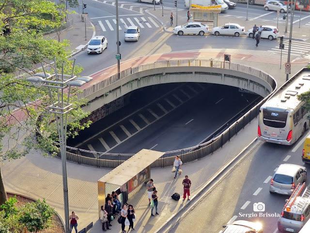Close-up do Vão aberto do Túnel José Roberto Fanganiello Melhem - Consolação - São Paulo