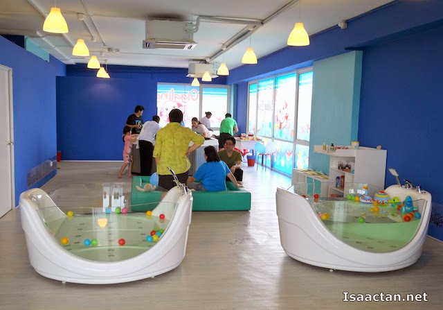 New, clean, vibrant and hygienic environment at the Giggling Jellyfish Baby Spa