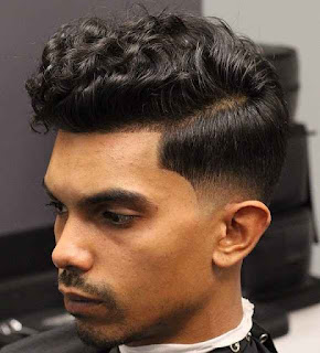 Curly Top with Side Fade