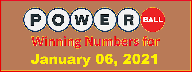 PowerBall Winning Numbers for Wednesday, January 06, 2021