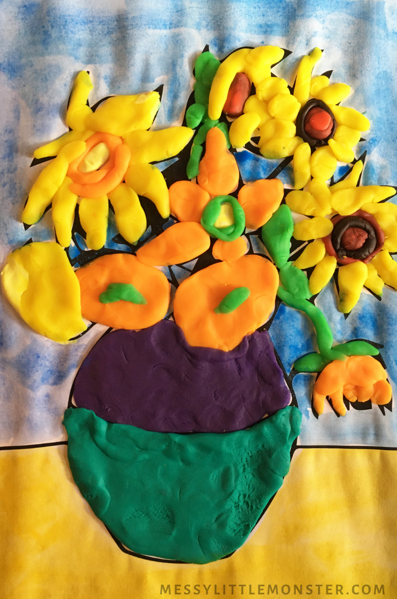 Sunflower art for kids