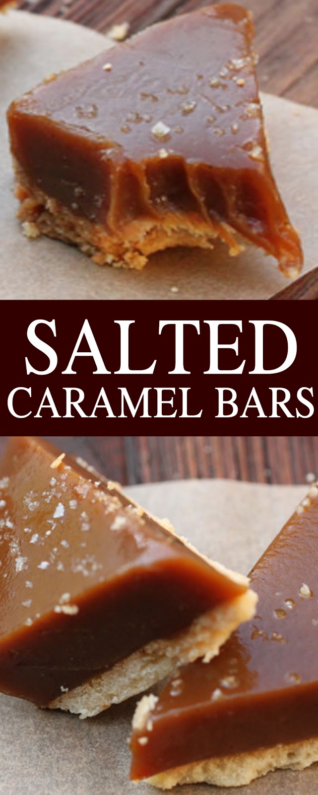 SALTED CARAMEL BARS #bars