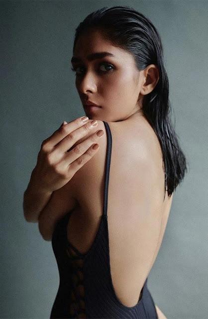 Mrunal Thakur in black bodysuit shows her boldest and sexiest avatar Navel Queens