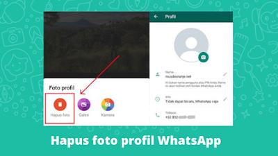 Cara Menghapus Foto Profil WhatsApp