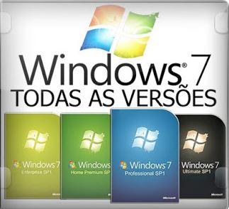 Windows 7 SP1 DUAL-BOOT Todas as versão 32 e 64 bits PT-BR 2020 Download Grátis