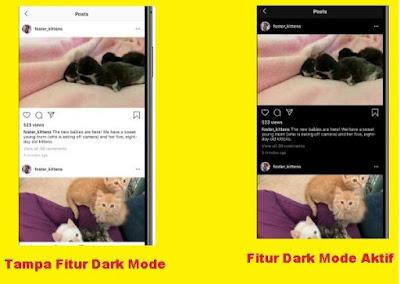 Apa yang dimaksud dengan fitur dark mode instagram cara mengaktifkan dark mode instagram fitur Terbaru Instagram