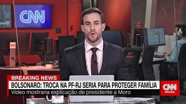 Bolsonaro dizendo que troca na PF-RJ seria para proteger família, diz CNN