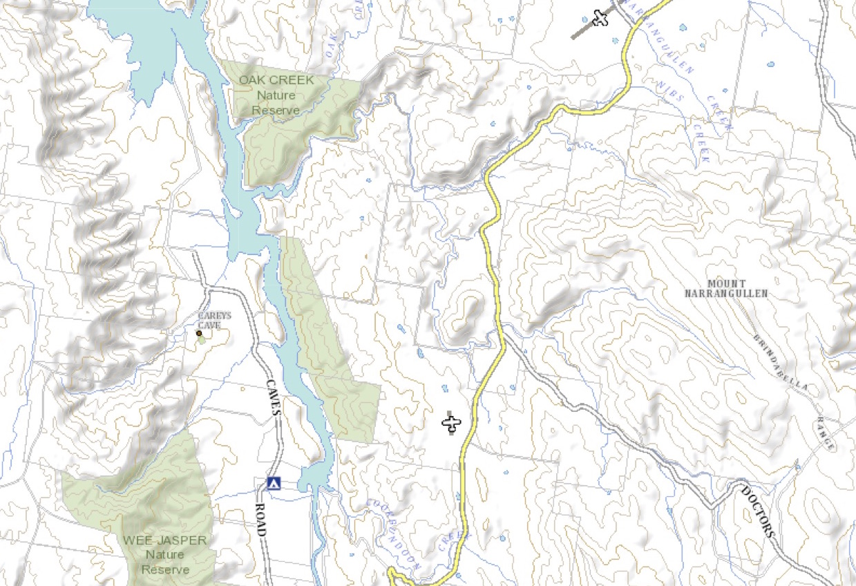 Lake burrinjuck map