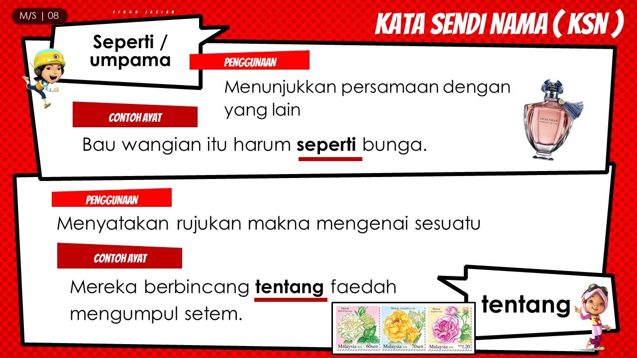 nota KATA SENDI NAMA, tatabahasa tahun 3, KSN