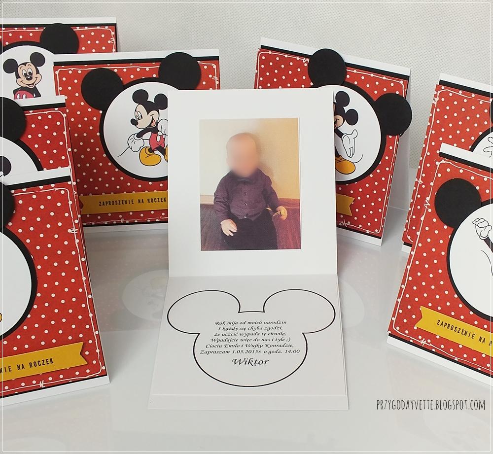 Zaproszenia Na Urodziny Z Myszką Miki Przygoda Yvette