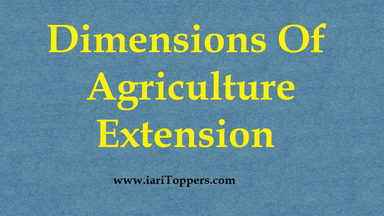 Dimensions Of Agriculture Extension ICAR E course Free PDF Book Download e krishi shiksha