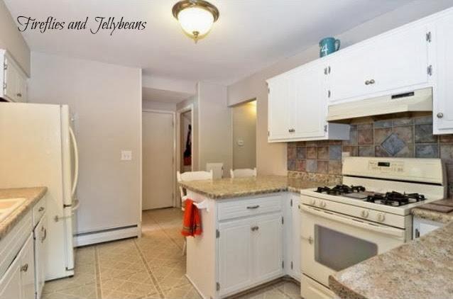 Gray Cabinets Bottom White Top Kitchen