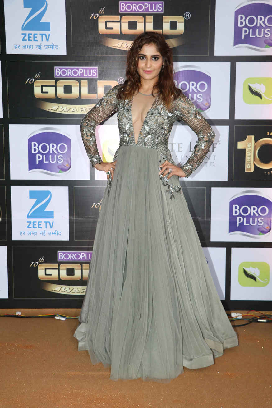 Rubina Dilaik and Aarti Singh at 10th Zee Gold Awards Event Stills