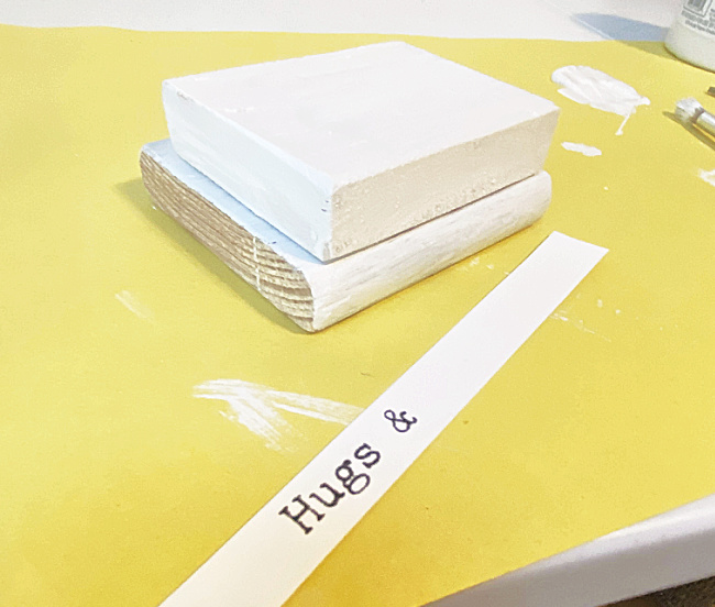 strips of paper with printed words for Valentine's Day