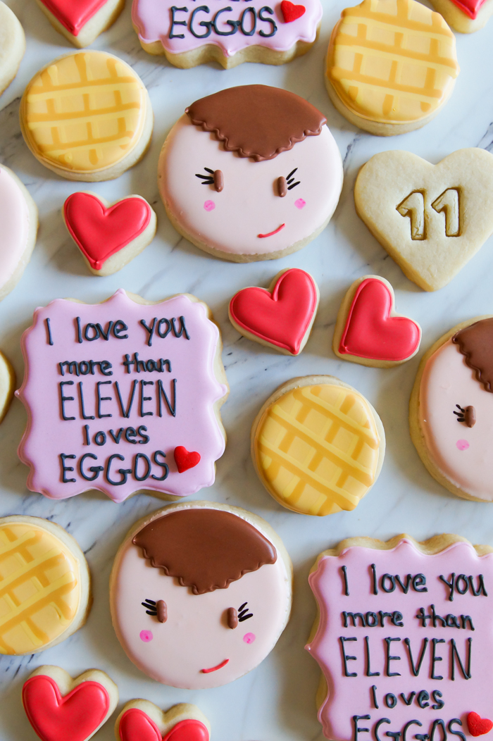 Stranger Things Valentine Decorated Cookies | bakeat350.net