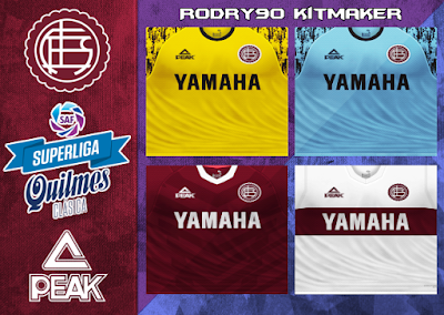 PES 6 Kits Club Atlético Lanús Season 2018/2019 by Rodry90 Kitmaker