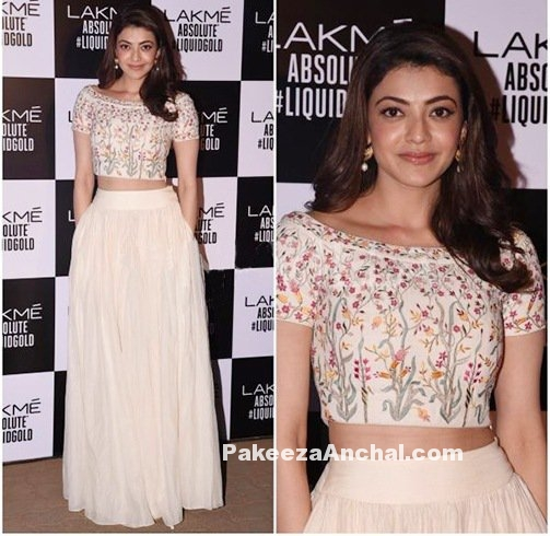 Kajal Agarwal in Anita Dongre @ Lakme Fashion Week 2017