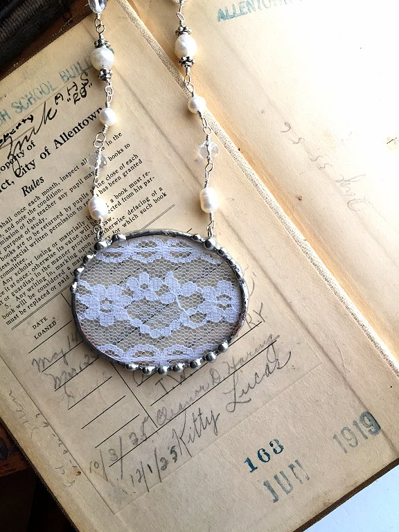 antique lace jewelry by Laura Beth Love