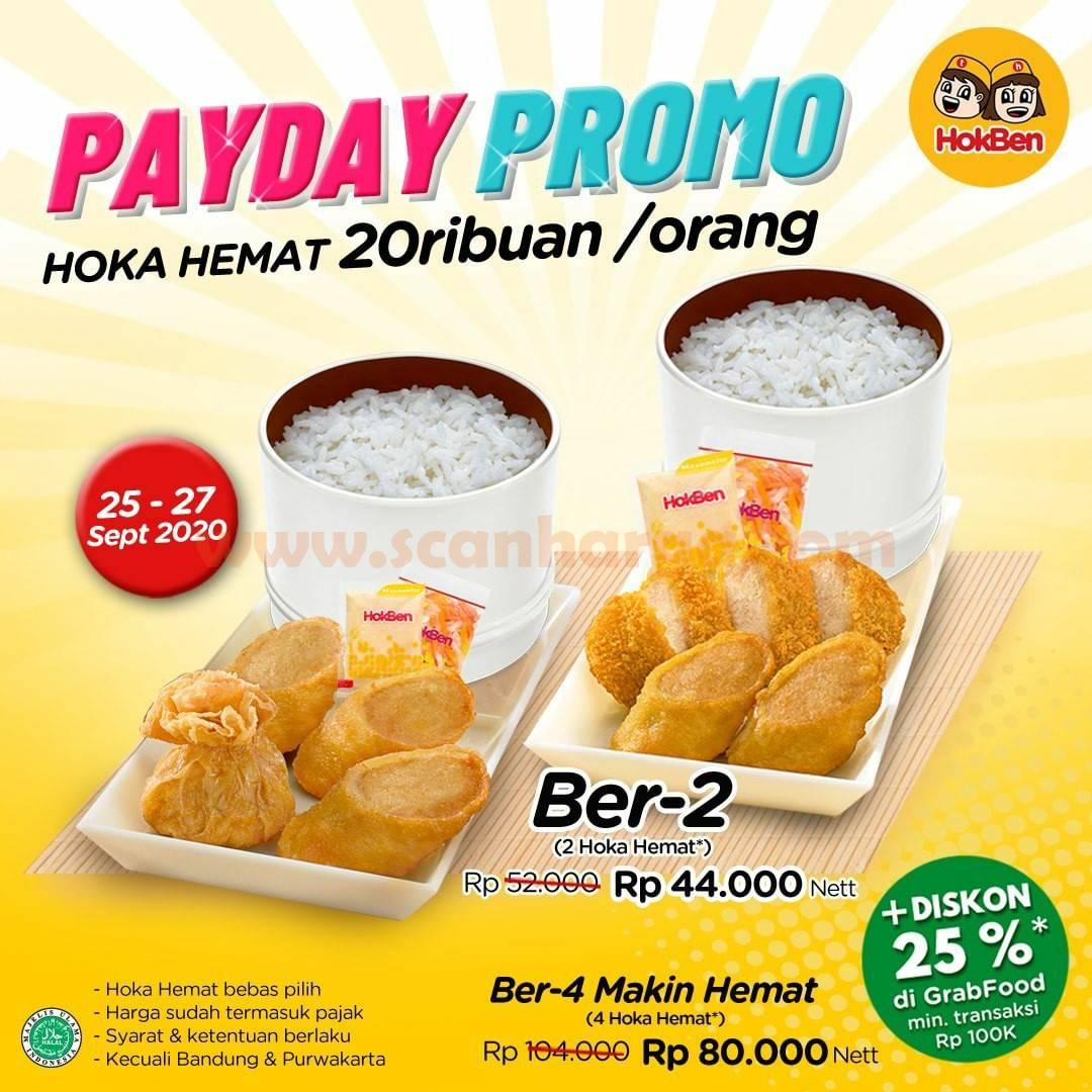 Hokben PAYDAY Promo √ Hoka Hemat 20Ribuan /Orang Periode 25 - 27 September 2020