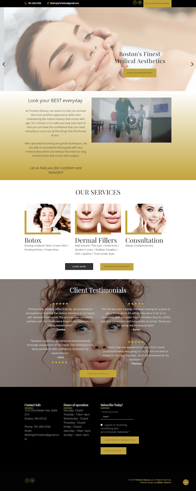 Be Simply Timeless Weebly Website Design