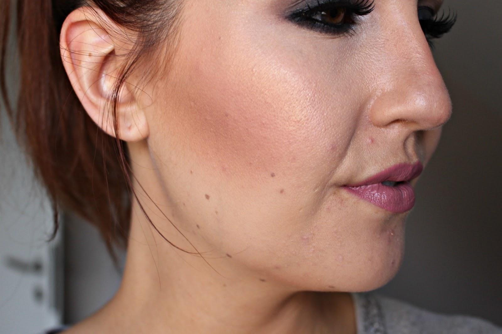 MakeUp Revolution ultra blush palette Golden Sugar look