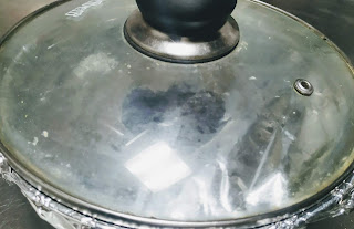 Sealed pot covered with lid for veg biryani recipe