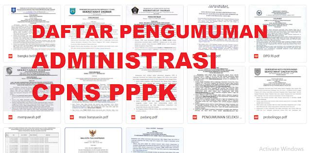 Daftar Pengumuman CPNS dan PPPK Beberapa Propinsi, Siapa Tahu Ada Propinsi Anda