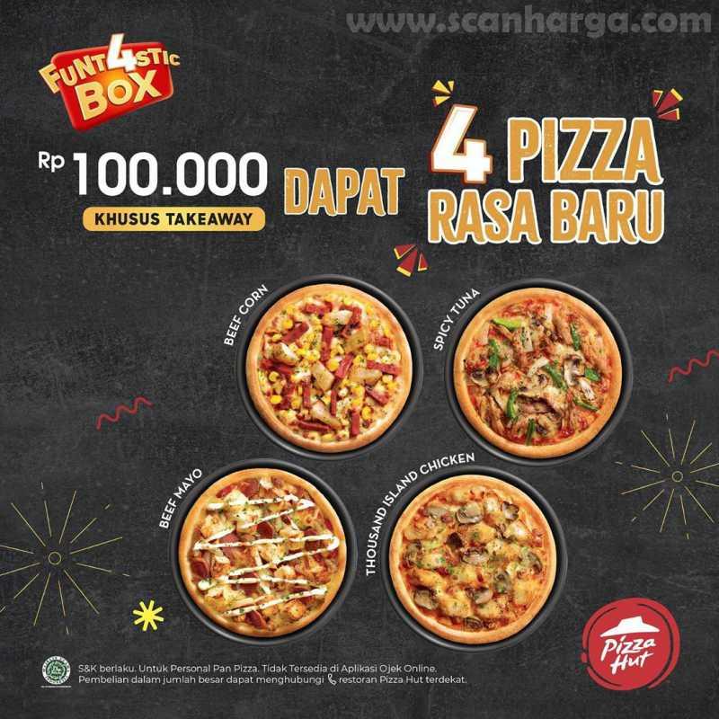 Pizza HUT Promo 4 Pizza Rasa Baru Cuma Rp 100.000