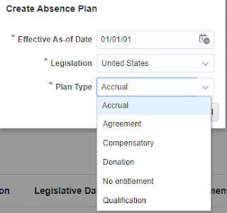 oracle fusion  hcm action plan types