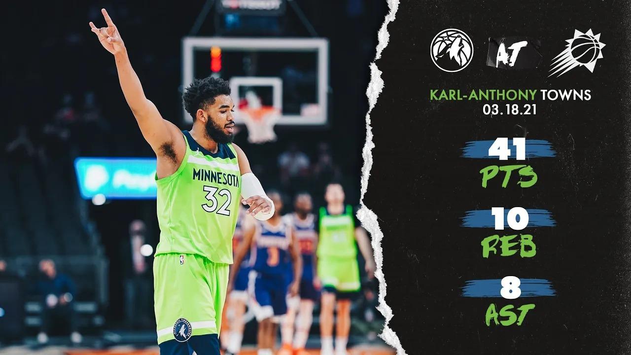 Karl-Anthony Towns 41pts 10reb 8ast vs PHO | March 18, 2021 | 2020-21 NBA Season