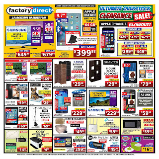 Factory Direct Weekly Flyer Circulaire January 18 - 24, 2018