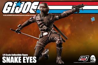 Snake Eyes 1/6 action figure de G.I.Joe, threezero