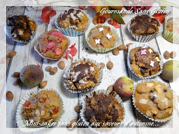 mini-cakes sans gluten et sans lactose aux saveurs d'automne