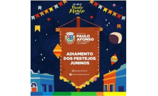 Paulo Afonso/BA segue recomendação do Ministério Público de Contas e suspende festejos junino devido ao Coronavírus