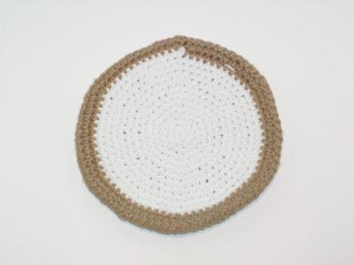 Cheeseburger Bun in Crochet Potholder