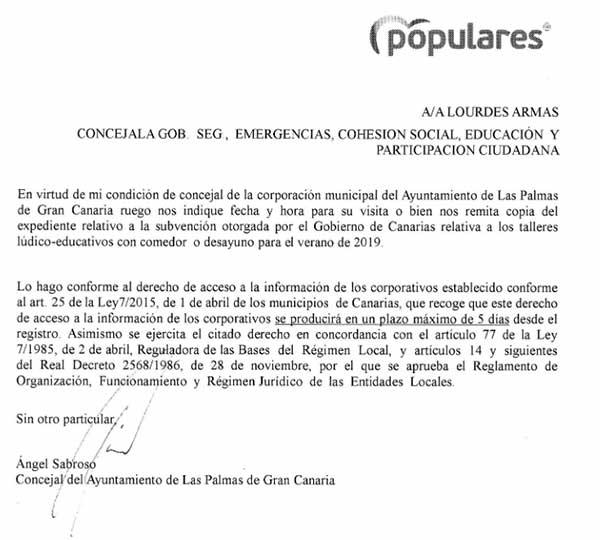 Comedores escolares verano 2019, Las Palmas de Gran Canaria