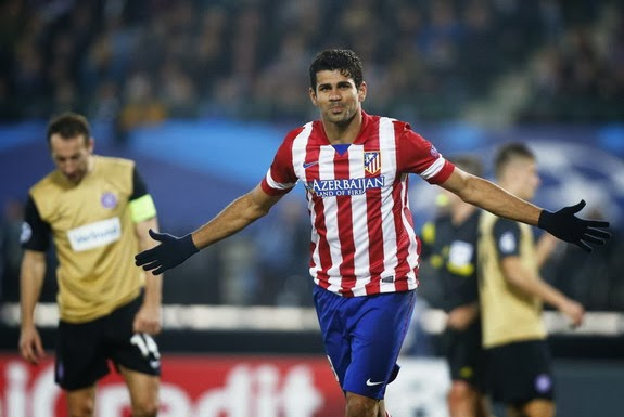 Diego Costa is currently the top scorer in La Liga with 11 goals from 10 matches