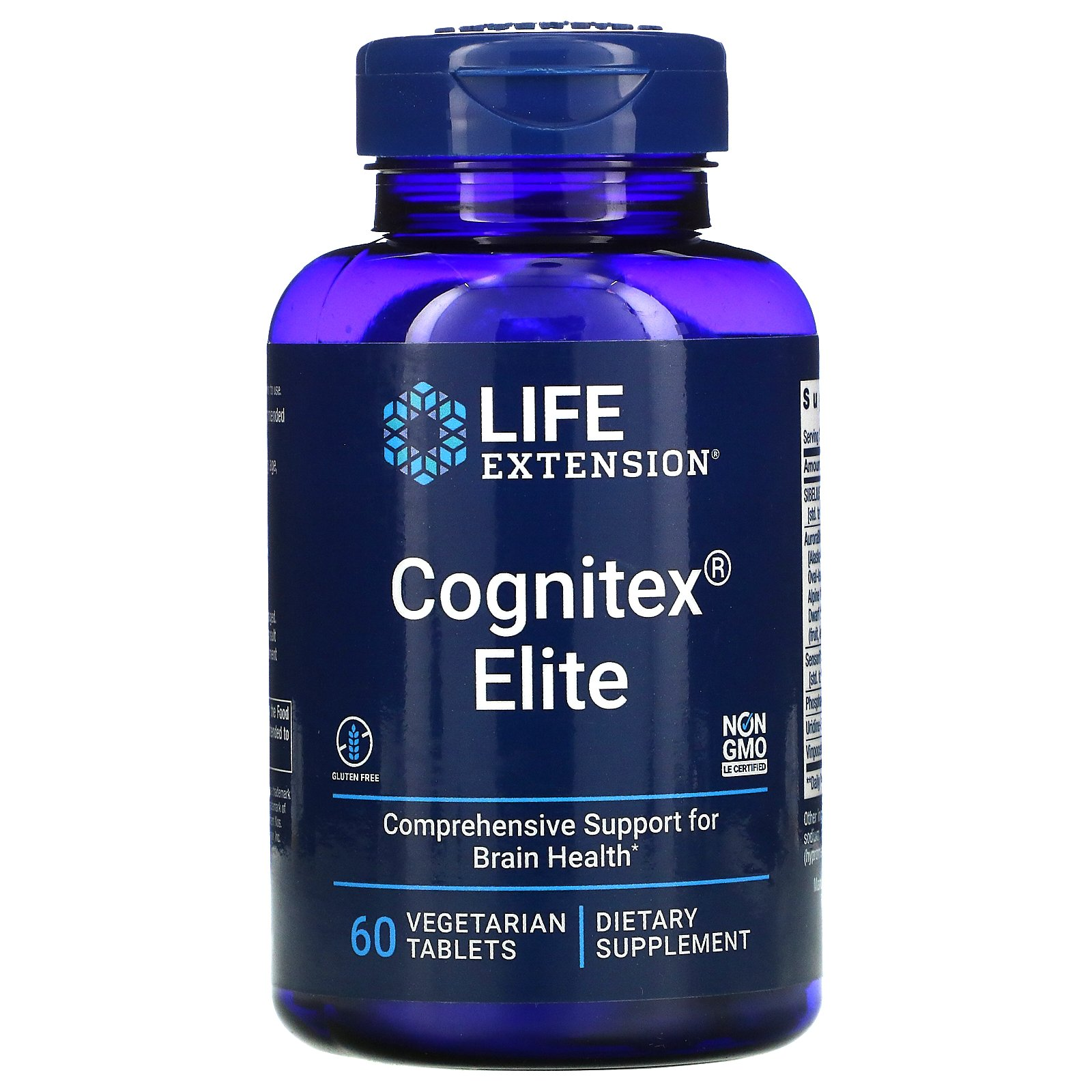 Life Extension, Cognitex Elite, 60 Vegetarian Tablets