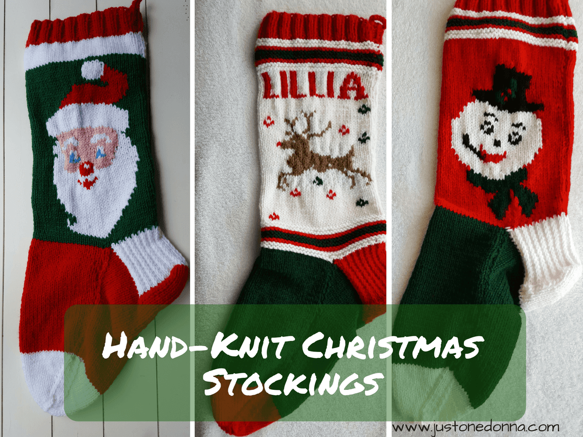 Hand-Knit Christmas Stockings for Christmas in July - Just~One~Donna
