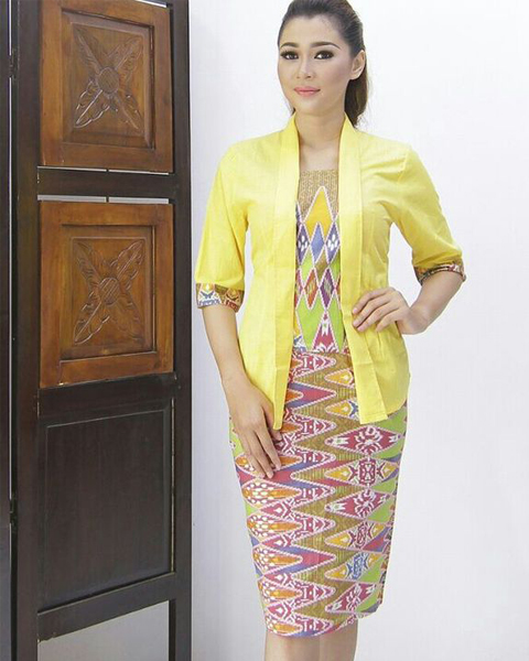 model baju batik rok blus